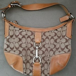 Coach Brown hobo handbag medium size J0768-11576